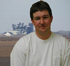 Image of Mike in front of the Mike's Antiques farm